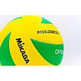 Мяч волейбольный Клееный PU MIKASA (PU, №5, 5 сл.) VM-63, фото 4