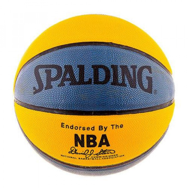 Мяч баскетбольный Spelding №7 PU желто-синий