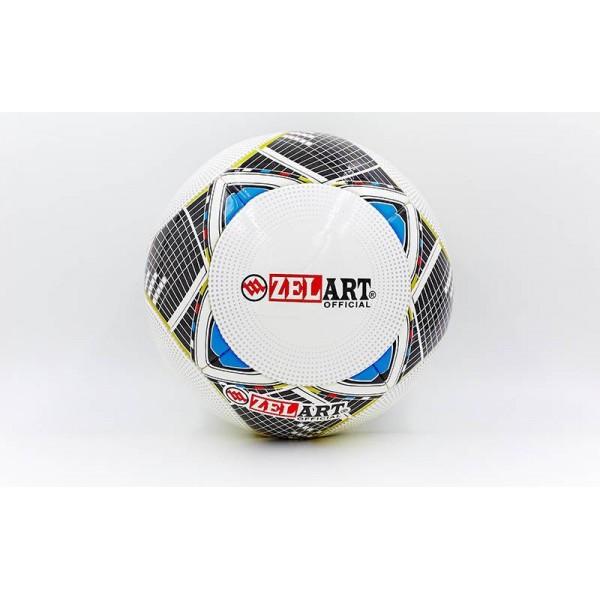 Мяч футбольный №5 PU ламин. Клееный ZELART