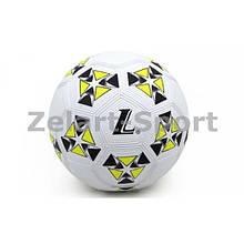 Мяч резиновый Футбольный №4 (белый-желтый)