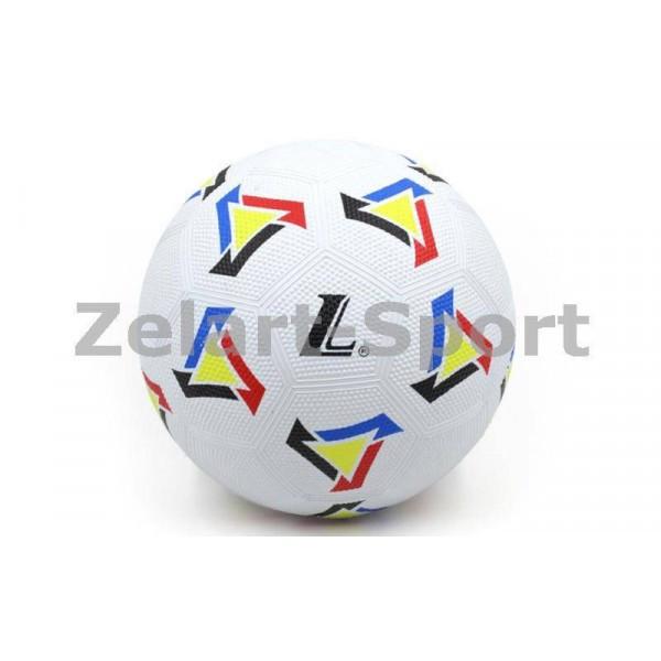 Мяч резиновый Футбольный №5 (белый-желтый)