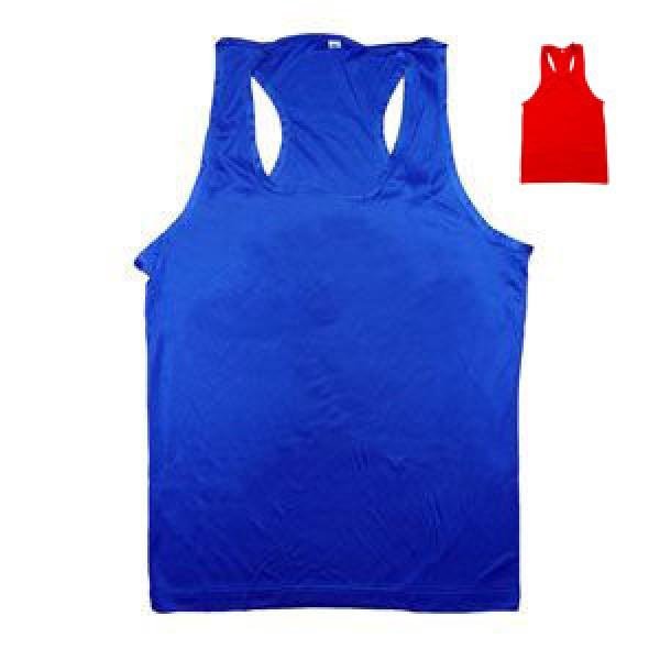Майка боксерская, размер XL, красный, синий, WS-8001