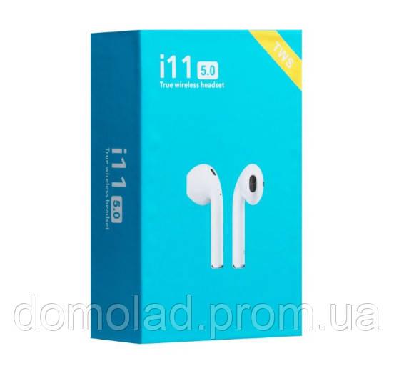 Бездротові Навушники Unit i11 TWS Sensor Stereo Bluetooth 5.0 Білий