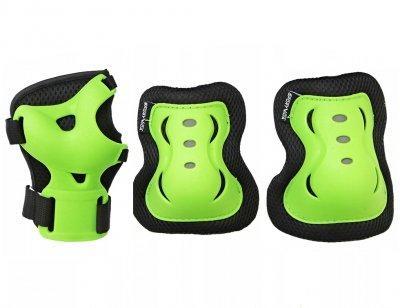 Комплект защитный SportVida SV-KY0001-L Size L Black-Green SKL41-227690