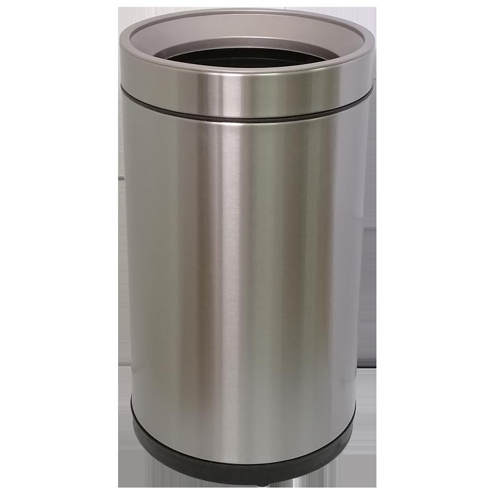 Ведро для мусора JAH 15 л круглое серебряный металлик без крышки с внутренним ведром
