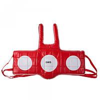 Защита груди BWS, PVC, красно-синяя, размер L