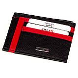 Кожаный картхолдер Karya 0022-45 с отделением для мелочи черный, фото 2