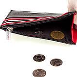 Кожаный картхолдер Karya 0022-45 с отделением для мелочи черный, фото 4