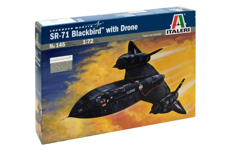 SR - 71 BLACK BIRD. Сборная модель самолета в масштабе 1/72. ITALERI 145