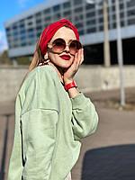 Повязка на голову женская демисезонная двойная чалма тюрбан джерси красная
