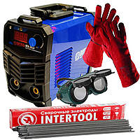Сварочный инвертор Витязь ИСА 380 +перчатки сварщика (огнеупорные)+1 кг электродов 3мм+очки сварщика