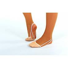 Получешки (полупальцы) для художественной гимнастики кожаные Zelart