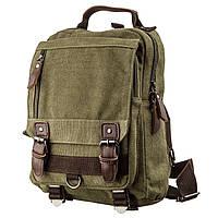 Сумка-рюкзак на одно плечо Vintage 20141 Оливковая