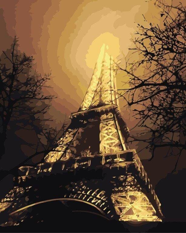 КНО2190 Раскраска по номерам В красках ночного города, Без коробки
