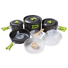 Посуда туристическая, набор посуды для отдыха - туризма - природы (алюминий) 5 человек Tourist comfort