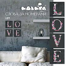 СН103 Набор-раскраска по номерам LOVE лофт, В картонной коробке, фото 2