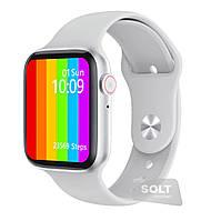 Розумні годинник з прийомом дзвінків і спорт-датчиками Unit Sport Watch-696, Gorilla Glass 2.5 D, IP68, Android і iOS Білий