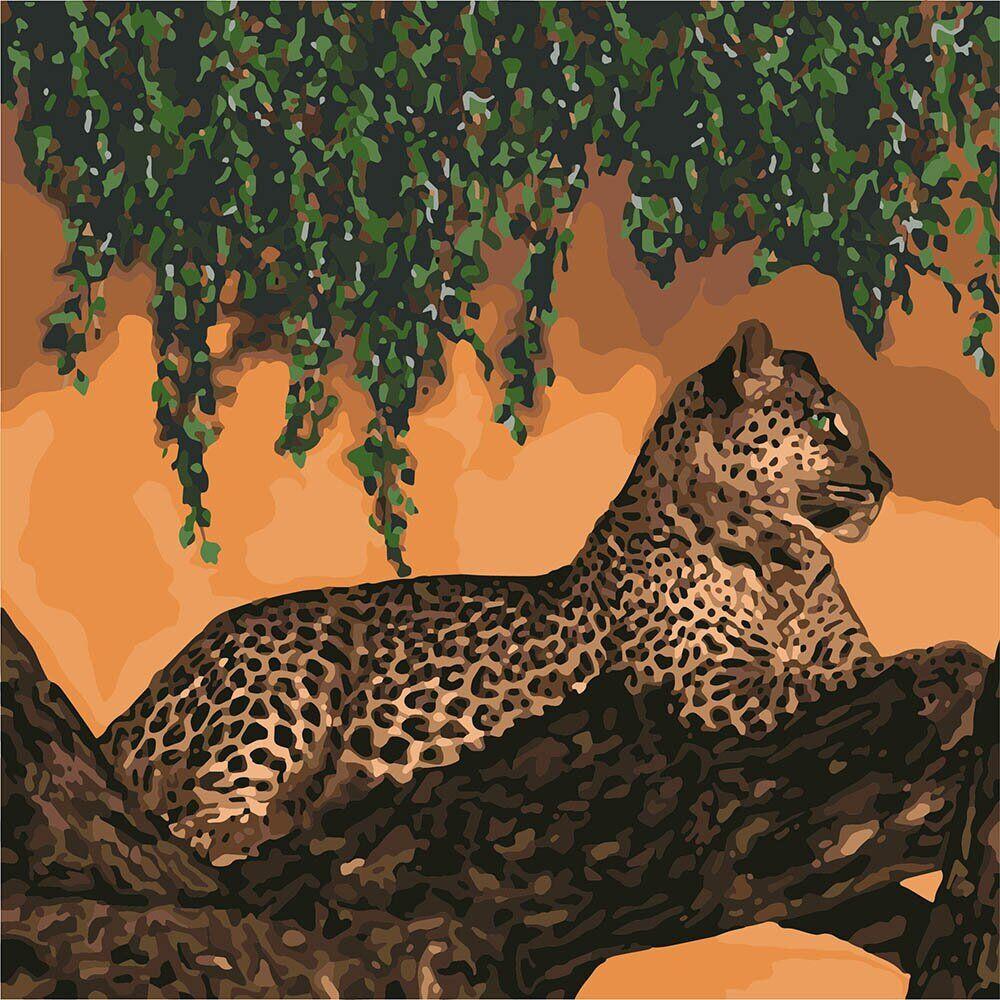 KHO4179 Картина для рисования по номерам На охоте, Без коробки