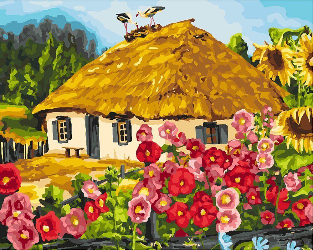 KHO2286 Картина для рисования по номерам Живописный пейзаж, Без коробки