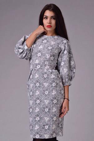 Платье шерсть рукав фонарь , фото 2