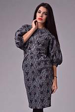 Платье шерсть рукав фонарь , фото 3