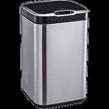 Сенсорное мусорное ведро JAH 7 л квадратное с внутренним ведром Металлик (6368)