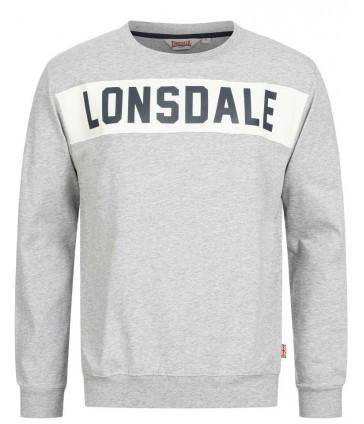 Мужская толстовка свитшот Lonsdale 115016 Marl Grey