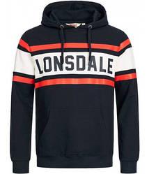 Мужское худи Lonsdale 115072 Dark Navy/Off White/Red