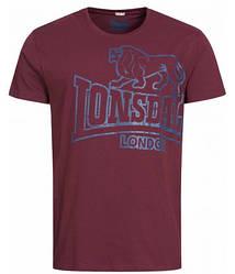Мужская футболка Lonsdale 111262 Vintage Oxblood