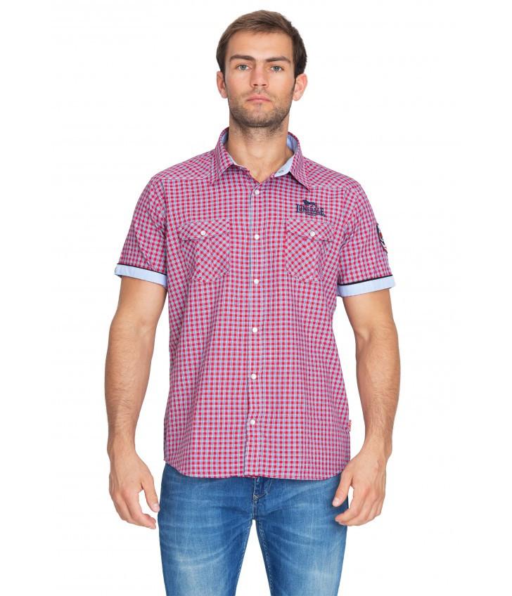 Рубашка мужская Lonsdale 113107 Red/Blue/White