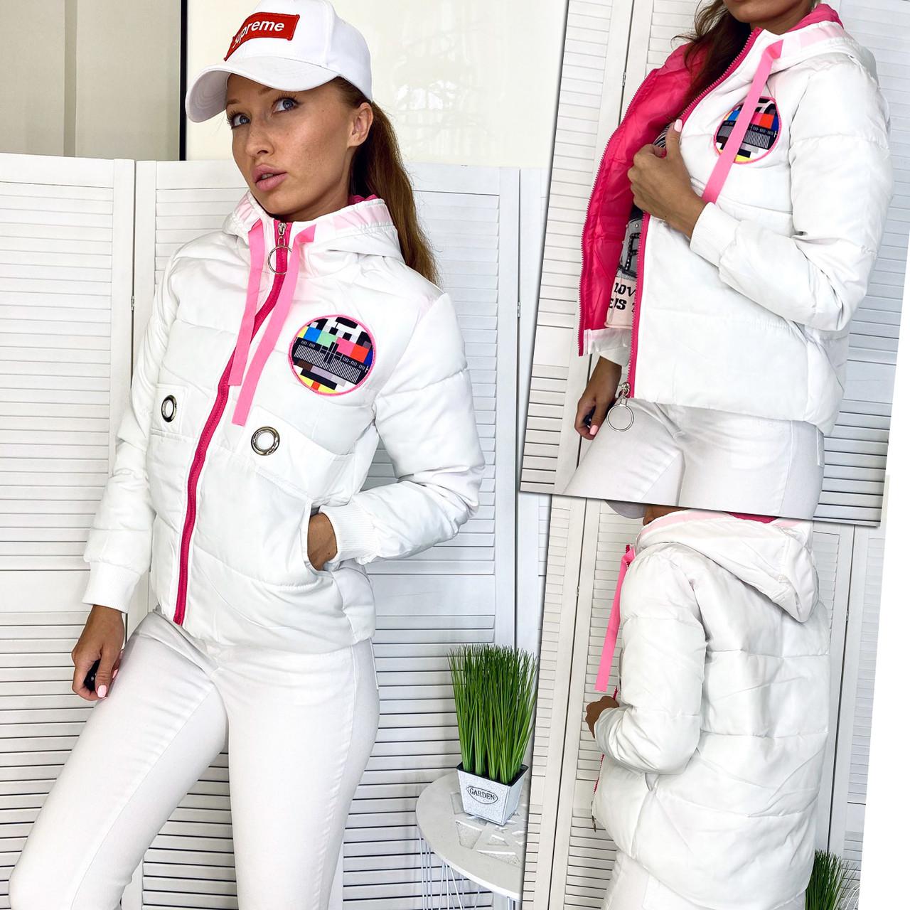 98504-1 белая X.I.Y куртка женская осенняя (М-2XL, 4 ед.)