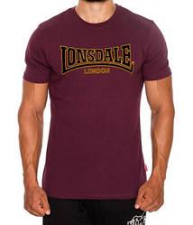 Мужская футболка Lonsdale 111001 Ox Blood