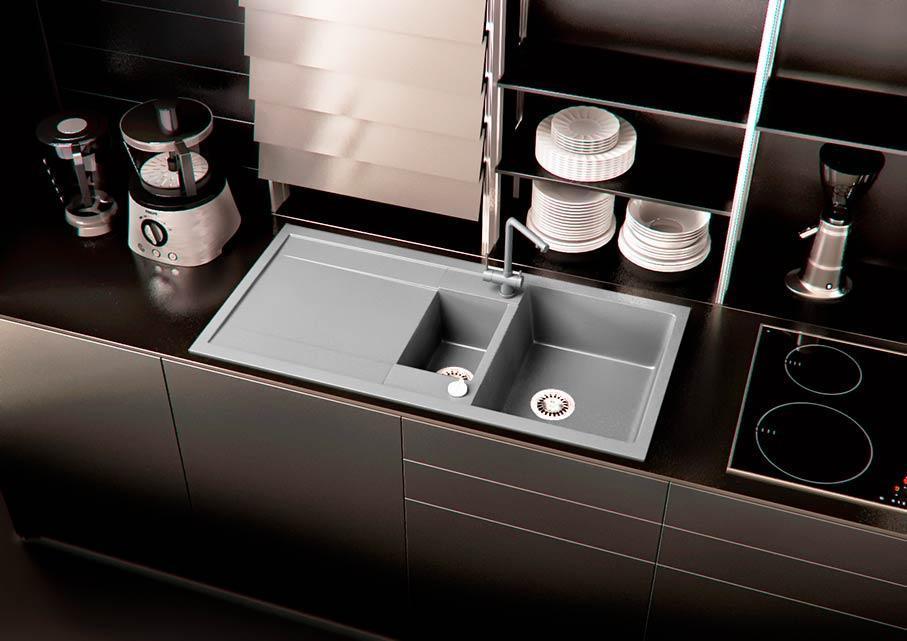 Кухонная мойка VALENTINA Gr Verona 100 серый
