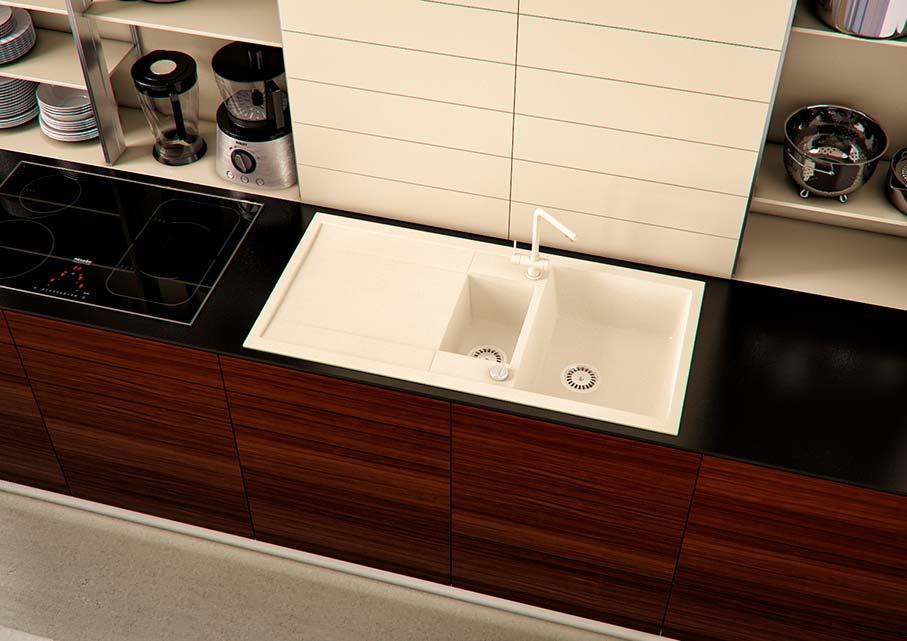 Кухонна мийка VALENTINA Gr Verona 100 бежевий