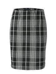 G - SELIA черно-белая юбка в клетку