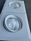 Поворотний LED світильник для підвісної стелі 30W downlight, фото 10