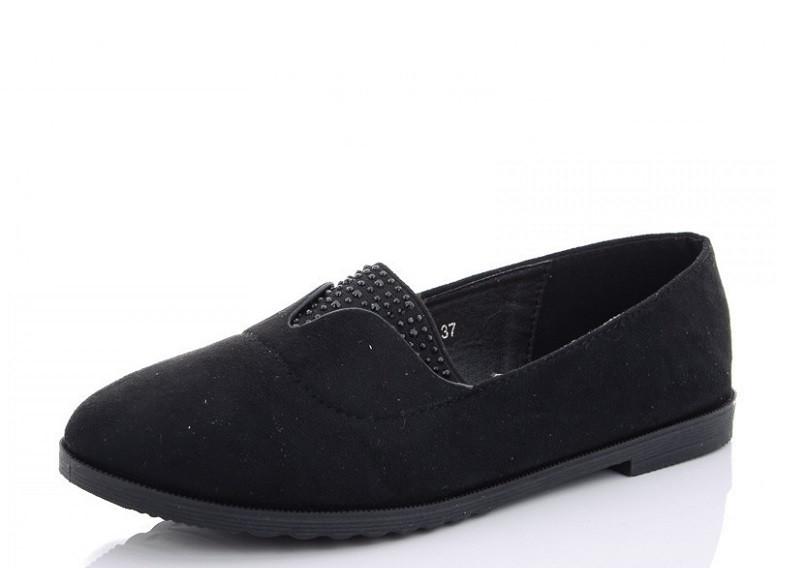 Балетки женские черные Башили-9YJ319-2