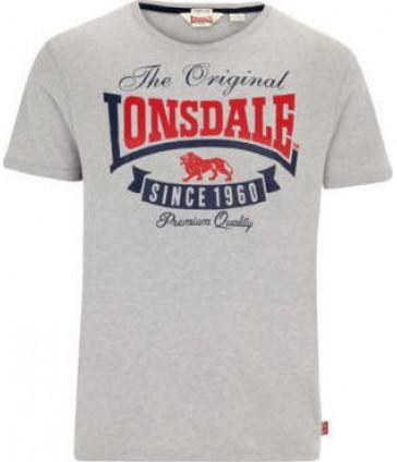 Мужская футболка Lonsdale 115544 Marl Grey