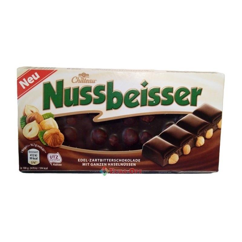 Шоколад черный Chateau Nussbeisser с лесным орехом 100 г Германия