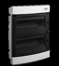 Щиток пластиковий прозорі дверцята вбудований Noark PNF 24Т IP40 2 ряд 12 модулів (101514)