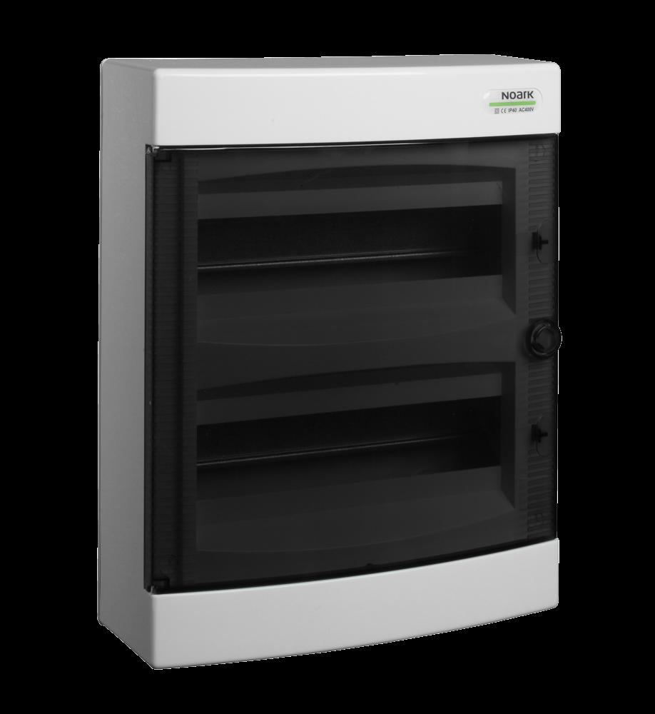 Щиток пластиковий прозорі дверцята накладний NOARK PNS 24Т IP40 2 ряда 12 модулів (101500)