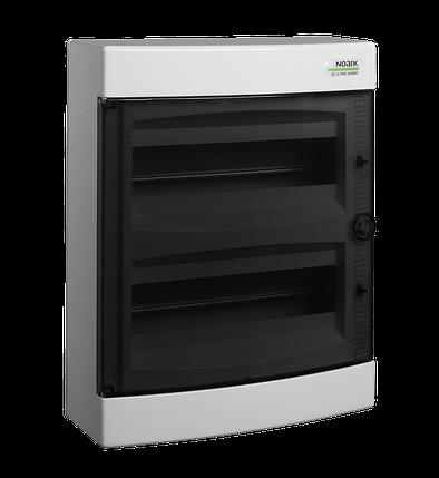 Щиток пластиковий прозорі дверцята накладний NOARK PNS 24Т IP40 2 ряда 12 модулів (101500), фото 2