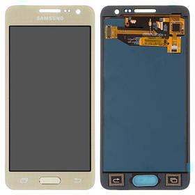 Дисплей (екран) для Samsung A300F Galaxy A3 з сенсором (тачскріном) золотистий з регулюванням (TFT)