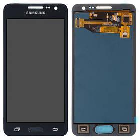 Дисплей (екран) для Samsung A300H Galaxy A3 з сенсором (тачскріном) черный з регулюванням (TFT)