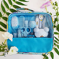 Набор по уходу за новорожденным голубой, 14 предметов, гигиена и уход за малышом, отличный подарок для мальчик
