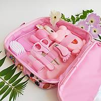 Набор по уходу за новорожденным розовый, 14 предметов, гигиена и уход за малышом, отличный подарок для девочки