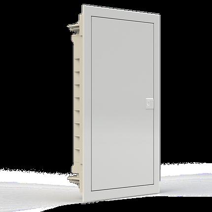 Щиток пластиковий з металевими дверцятами вбудований NOARK PMF24 IP40 2 ряда 24 модулів (107102), фото 2