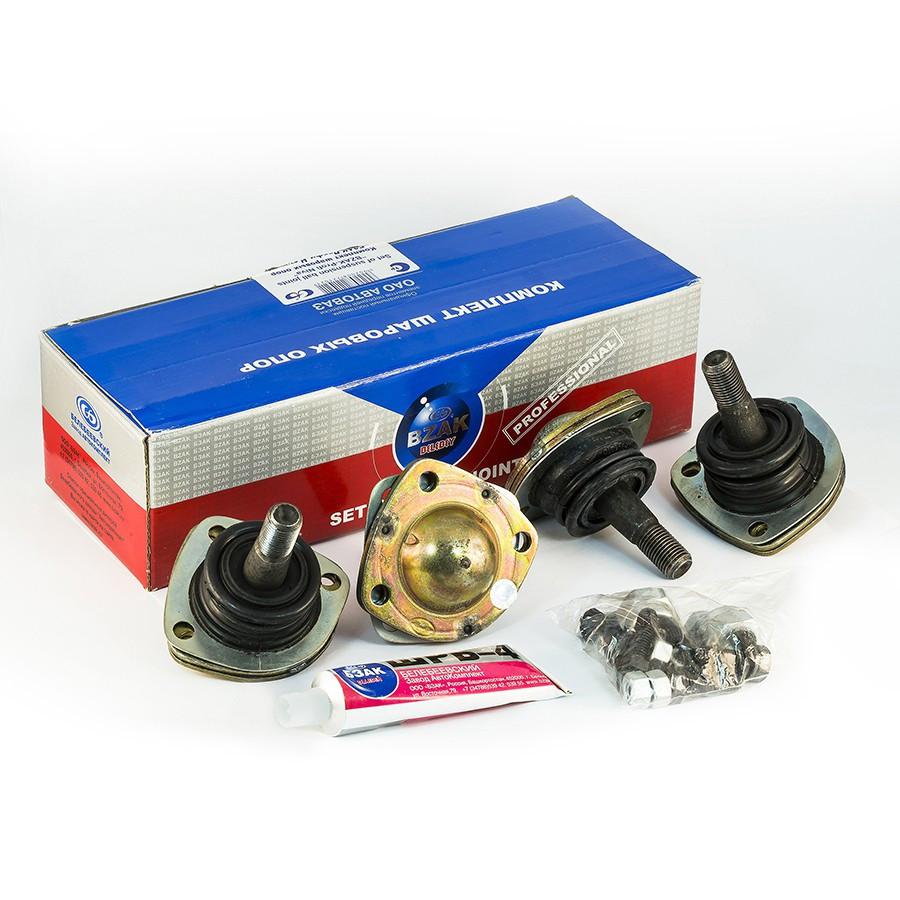 Комплект шаровых опор «БЗАК–Профи Нива» ВАЗ-2121 21213 21214 (крепёж, смазка ШРБ)