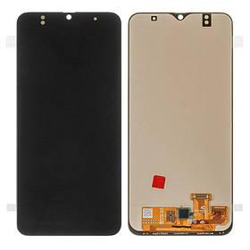 Дисплей (екран) для Samsung A305 Galaxy A30 з сенсором (тачскріном) черный (OLED)