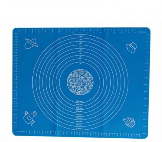Силиконовый коврик для раскатки и выпечки теста 40 х 50 см Голубой